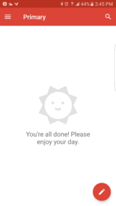 Reaching 0 inbox in GMail Mobile