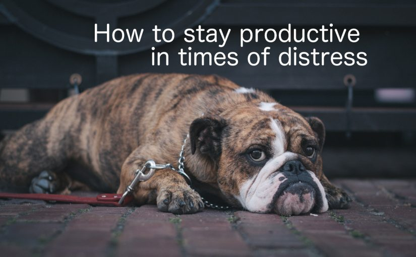 How to stay productive in times of distress.